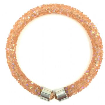 Sparkle dust cuff bracelet kit - salmon ab
